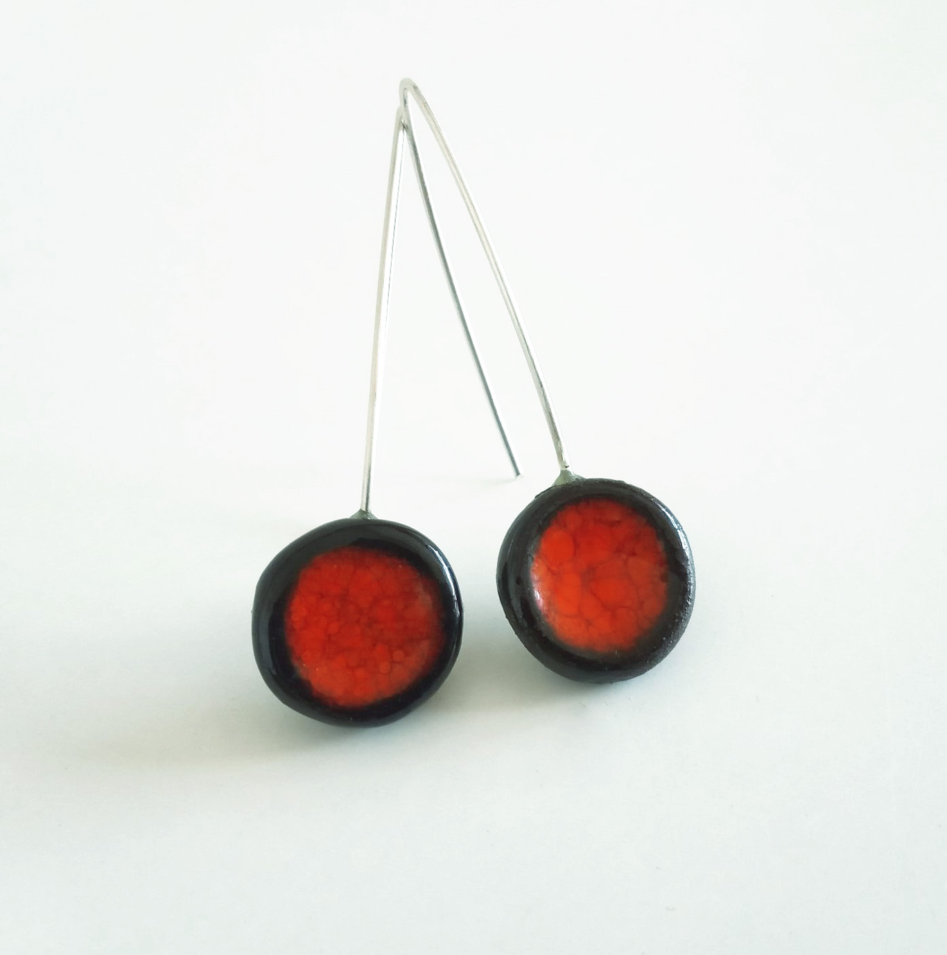 Pendiente-Largo-Coleccion-Rojo-Pasion-workshop-on-line-Hancrafts.from-Menorca made in the island
